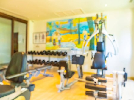 Photo for Abstract blur and defocused gym and fintess equipment interior for background - Royalty Free Image