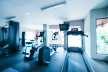 Photo for Abstract blur and defocused gym and fitness equipment interior for background - Royalty Free Image