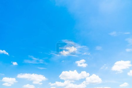 Photo for Beautiful white cloud on blue sky background - Royalty Free Image