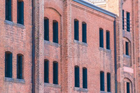 Photo for Beautiful exterior building and architecture of brick warehouse in yokohama city japan - Royalty Free Image