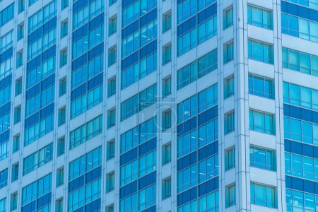 Photo for Beautiful exterior office building and architecture with window pattern - Royalty Free Image