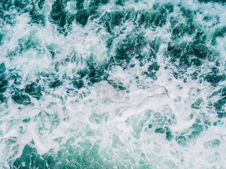 Photo for Sea and Ocean water wave textures and surface for background - Royalty Free Image