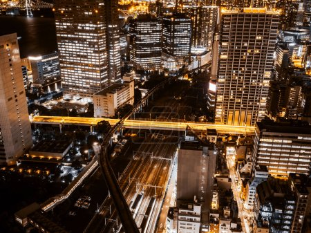 Photo for Beautiful Architecture and city in tokyo japan at night - Royalty Free Image