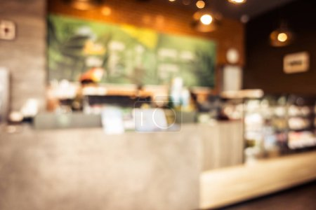 Abstract blur coffee shop and restaurant interior for background