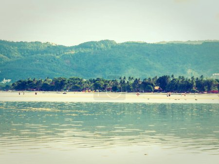 Beautiful tropical beach and sea with coconut palm tree for travel and vacation