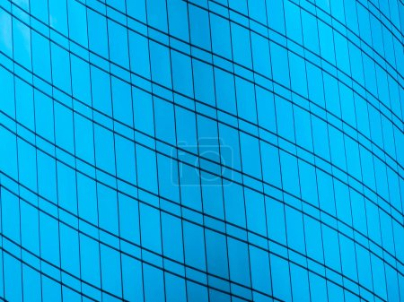 Abstract window glass pattern exterior of architecture office building