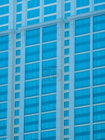 Photo for Beautiful office building and architecture with window pattern exterior for background - Royalty Free Image