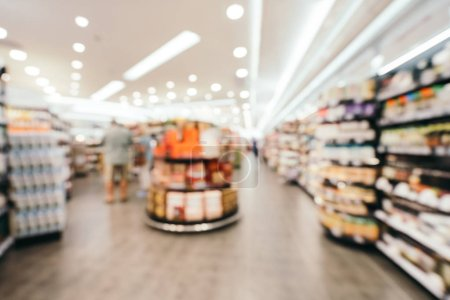 Abstract blur and defocused supermarket in department store shopping for background