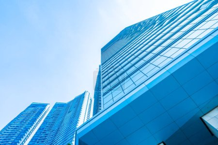 Photo pour Bureau d'affaires de belle architecture bâtiment extérieur gratte-ciel - image libre de droit