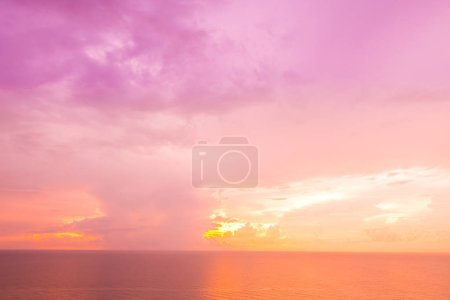 Photo for Beautiful tropical sea and ocean on cloud with sky at sunrise times - Royalty Free Image