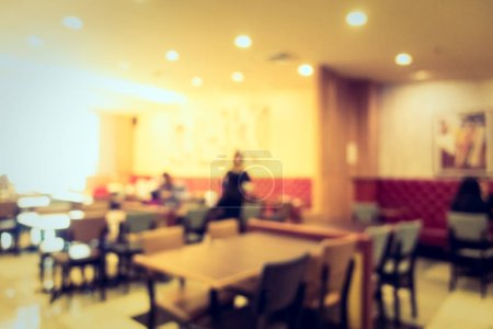Photo for Abstract blur and defocused restaurant and coffee shop cafe interior for background - Royalty Free Image
