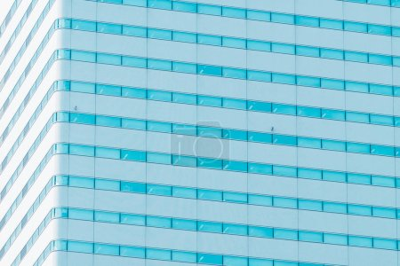 Photo for Beautiful modern exterior office building with glass window pattern textures - Royalty Free Image