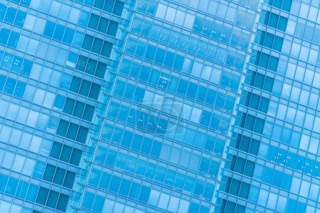 Photo for Beautiful architecture business office building with window glass pattern in the skyscraper city - Royalty Free Image