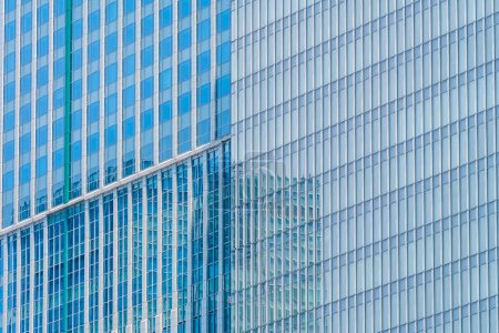 Beautiful architecture business office building with window glass pattern in the skyscraper city