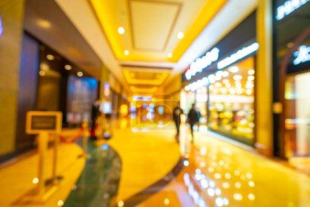 Photo pour Flou abstrait et centre commercial déconcentré de l'intérieur des grands magasins pour le fond - image libre de droit