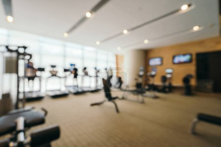 Photo for Abstract blur and defocused gym and fitness interior with sport equipment for background - Royalty Free Image