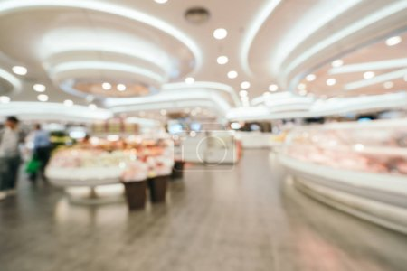 Photo for Abstract blur and defocused supermarket in department store shopping for background - Royalty Free Image