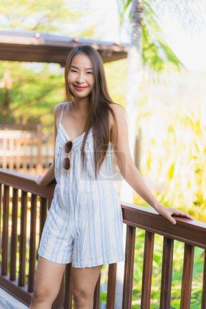 Photo for Beautiful young asian woman happy smile with life style - Royalty Free Image