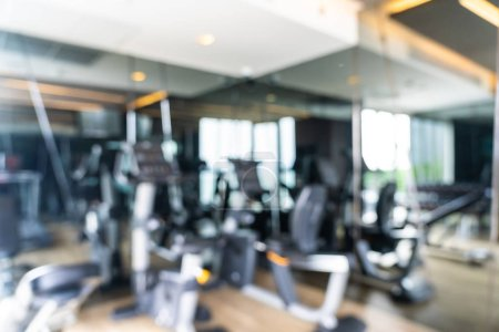 Photo for Abstract blur and defocused fitness equipment in gym room interior for background - Royalty Free Image