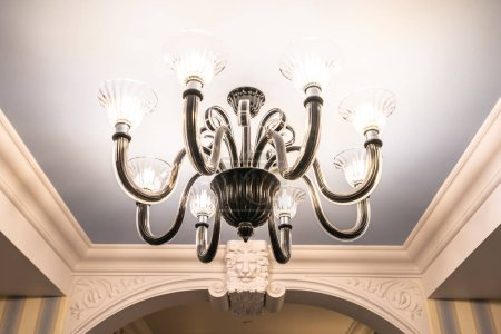Photo for Beautiful luxury electric ceiling light lamp decoration interior of room - Royalty Free Image