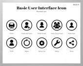Basic UI icons rounded pack