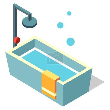 Photo pour Salle de bain, icône, illustration vectorielle - image libre de droit