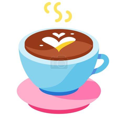 Photo pour Illustration vectorielle d'icône plate latte chaude - image libre de droit