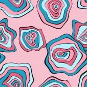 """Постер, картина, фотообои """"Волнистые искаженное раундов. Бесшовный фон с деформированным кругах. Руки Drawn абстрактный фон. Векторные психоделические иллюстрации с красочными пятнами. Волна Бесшовные шаблон для ткани, текстильные, упаковка."""""""