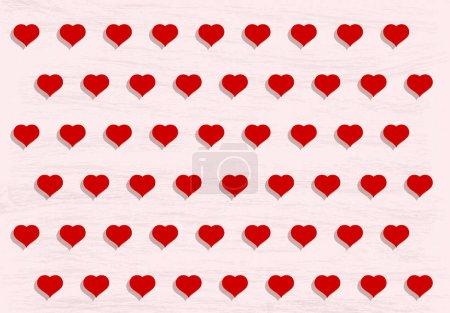 Photo pour Amour populaire coeur décor inspiration idée valentines jour motif texture fond - image libre de droit