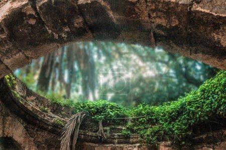 eye shape holl in wall