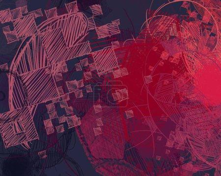 Photo pour Art contemporain. Art, fait main. Texture colorée. Œuvre d'art moderne. Coups de peinture grasse. Coups de pinceau. Image de fond artistique. Peinture abstraite sur toile. - image libre de droit