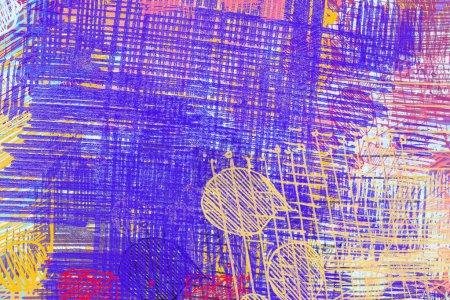 Photo pour Art contemporain. Art, fait main. Texture de couleur pourpre. Œuvre d'art moderne. Coups de peinture grasse. Coups de pinceau. Image de fond artistique. Peinture abstraite sur toile. - image libre de droit