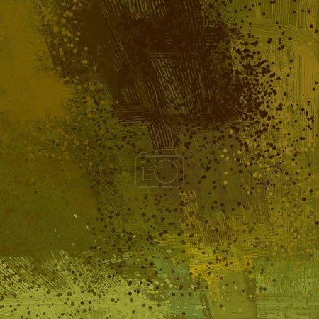 Foto de Arte de fondo abstracto. 2d ilustración. Pintura al óleo expresiva dibujada a mano. Pinceladas sobre lienzo. Arte digital moderno. Fondo multicolor. Arte contemporáneo. Expresión. Arte popular . - Imagen libre de derechos