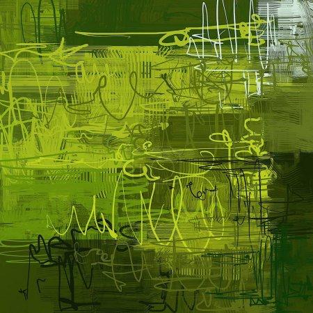Photo pour Art de fond abstrait. Illustration 2d. Expressive peinture à l'huile dessinée à la main. Coups de pinceau sur toile. Art numérique moderne. Fond multicolore. L'art contemporain. Expression. Art populaire . - image libre de droit