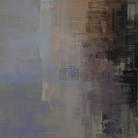 Photo for Abstract background art. 2d illustration. Expressive hand drawn oil painting. Brushstrokes on canvas. Modern art. Multi color backdrop. Contemporary art. Expression. Artistic digital palette. - Royalty Free Image