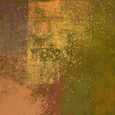 Photo pour Art de fond abstrait. Illustration 2d. Expressive peinture à l'huile dessinée à la main. Coups de pinceau sur toile. L'art moderne. Fond multicolore. L'art contemporain. Expression. Fond numérique coloré . - image libre de droit