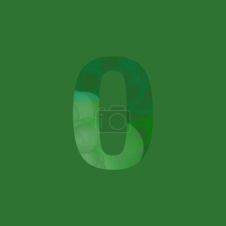 Stylish Bubbled Number Zero