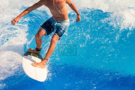 Photo for Surfer riding the waves. - Royalty Free Image