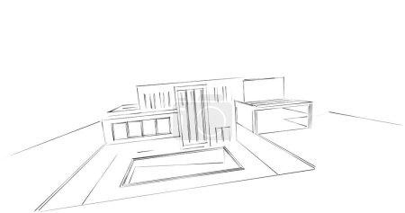 Foto de Diseño abstracto de papel pintado arquitectónico, fondo de concepto digital - Imagen libre de derechos