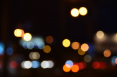 blurred abstract lights background of the city in night