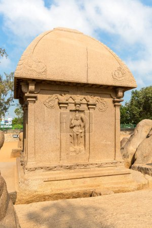 The Five Rathas, Draupadi ratha, Mahabalipuram, Tamil Nadu, India