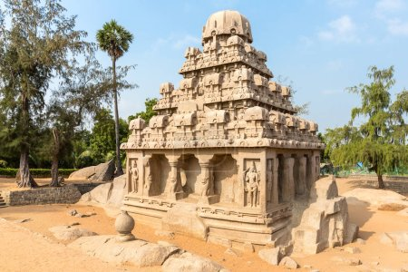 The Five Rathas, Yudhishthir ratha, Mahabalipuram, Tamil Nadu, India