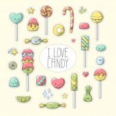 Candy Sticker Set