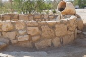 Biblical Tamar park, Arava, South Israel. Ancient well from Muslim period