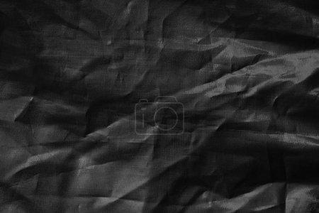 Photo pour Abstrait fond noir avec texture de tissu - image libre de droit