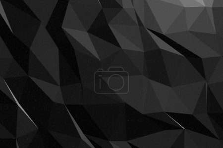 Photo for Dark abstract background, polygonal texture - Royalty Free Image