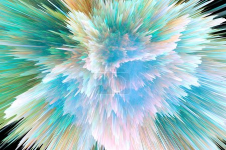 Photo for Colorful abstract background, space explosion texture - Royalty Free Image