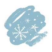 Snowflakes Winter theme Simple brush sketch illustration isolated on white background