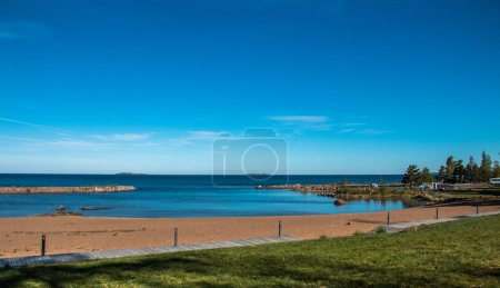Photo for A summer day with blue sky at the beach - Royalty Free Image