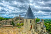 Fortification of Carcassonne with Basilique Saint Nazaire, Franc